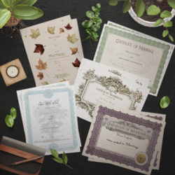 Package of Certificates for Officiants