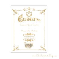 Design 204 - Gold Frame Anniversary