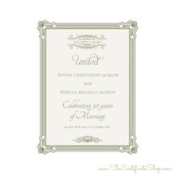 Keepsake Anniversary Certificate