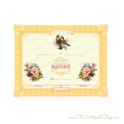 Officiant Decorative Marriage Document Vintage