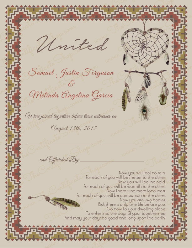 Folder for marriage certificate 59