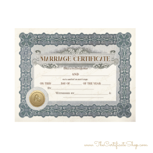 Baroque Marriage Certificate