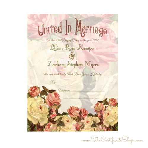 Decorative Vintage Wedding Document