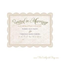 Keepsake Wedding Certificate