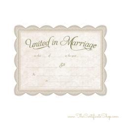 Keepsake Wedding License