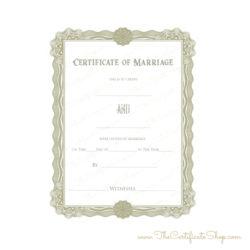 Pastor's Wedding Certificate