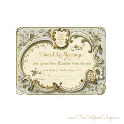 Vintage Shabby Chic Marriage Certificate