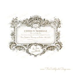 Baroque Marriage Certificate