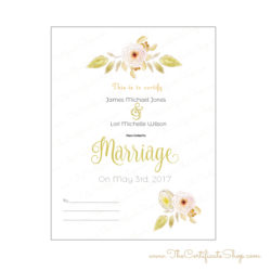 Minister Marriage Certificate