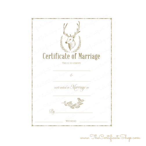 Minister's Wedding Certificates