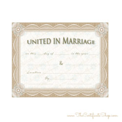 Pastors Wedding Certificate
