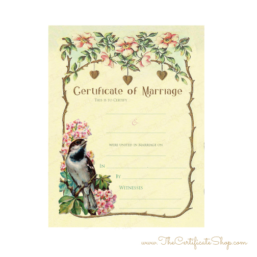 Folder for marriage certificate 89