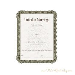 Cosmetic Wedding Certificate