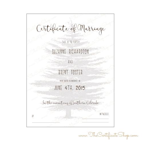 decorative marriage license